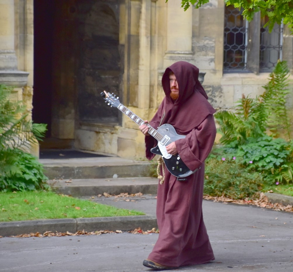 guitar playing monk